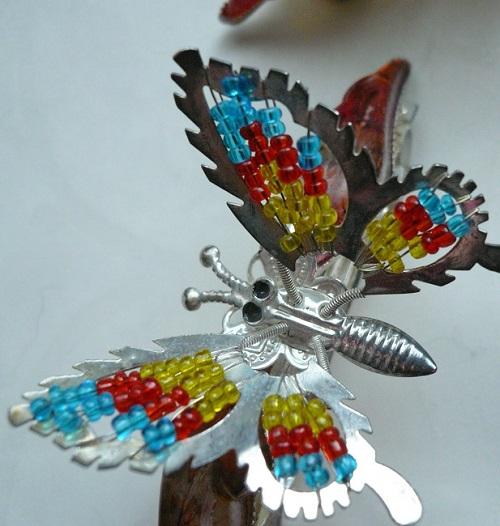 Заколка бабочка из 90 купить ткань сатин твил оптом