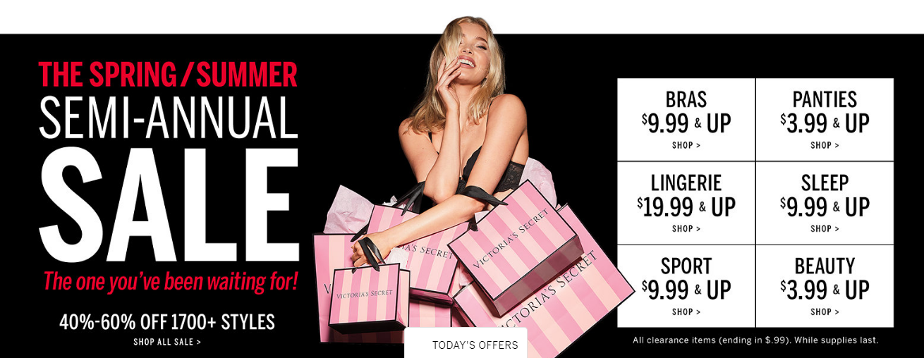 Bath and body works semi annual sale online and in stores
